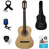 Stretton Payne Kindergitarre, Konzertgitarre, Klassisches Gitarrenpaket 3/4 Größe (36 Zoll) Klassische Nylonsaiten-Kindergitarre...