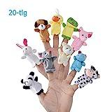 LivDeal Fingerpuppen [20-TLG]Baby Mitgebsel Kindergeburtstag Finger Plüschtier Set Jungen und Mädchen Geschenke für Oster und...