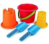 Hape E4053 - 5-in-1 Strandset, Strandspielzeug/Sandspielzeug, mehrfarbig