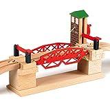BRIO World 33757 Hebebrücke – Eisenbahnzubehör für die BRIO Holzeisenbahn – Kleinkinderspielzeug empfohlen für Kinder ab 3...