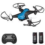 tech rc Drohne für Kinder Anfänger Mini Drohnen ohne Kamera Dual Akku 16 Minuten Flugzeit Indoor RC Drone Ferngesteuerte 3D Flip...