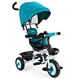 Fascol Baby Dreirad 4 in 1 Kinderdreirad Tricycle für Kinder ab 12 Monate bis 5 Jahren mit Abnehmbarer Sonnendach&Schubstange...