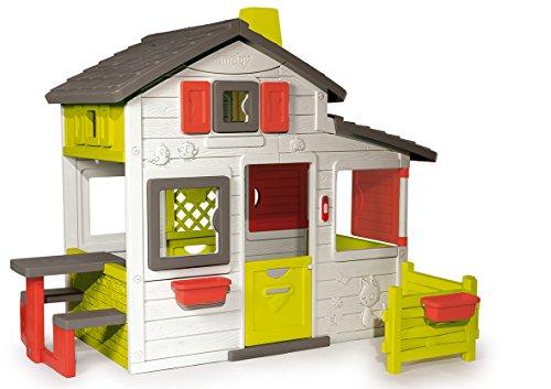 Smoby – Friends House - Spielhaus für Kinder für drinnen und draußen, mit Sitzbank,...