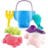CubicFun Sandspielzeug Set für Kinder und Kleinkinder, Strandspielzeug Enthält Sandschaufel und Eimer, Schildkröte Krokodil Wal...