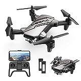 DEERC D20 Drohne mit Kamera HD 720P für Kinder,Faltbar RC Mini Quadcopter mit FPV WiFi Live Übertragung,2 Akku lange...