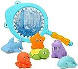 Dulabei 7 Stück Badespielzeug Baby ab 1 2 3 Jahr, Badewanne Spielzeug Kinder,...