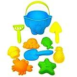 TOYANDONA 10 Stück Kinder Strand Spielzeug Sandkasten Set Fisch Stern Krabben Obst Schimmel Sand Schaufel Wassereimer Sand Aushub...