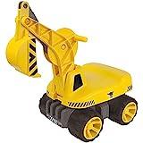 BIG - Power-Worker Maxi-Digger - Kinderfahrzeug, geeignet als Sandspielzeug und für das Kinderzimmer, Baggerfahrzeug zum Sitzen...