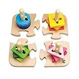 Hape E0411 - Kreatives Steckpuzzle, Motorikspielzeug, aus Holz, ab 18 Monate