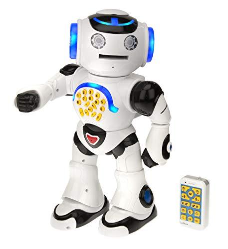 Lexibook ROB50DE ROB50EN Powerman, Intelligenter interaktiver Roboter für Kinder 4-7 zum Lernen und Spielen, Tanzt, musiziert,...