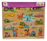 Eichhorn 100005454 - Plug-In-Puzzle 40x35cm mit 21-23 Plug-In-Teilen, Motive: Safari, Bauernhof, Verkehr, Lieferumfang 1 Stück,...