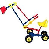 Deuba Kinderbagger Sitzbagger 120x35x80cm 360° drehbar Kippschaufel Sitz und Reifen Sandkastenbagger Sandkasten Bagger Metall