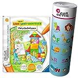 Ravensburger tiptoi® Schule Buch | Vorschulwissen - Mein Lern-Spiel-Abenteuer + ABC Alphabet Lern-Poster mit Tieren, Vorschule,...