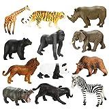 Achort 12 stücke Kunststoff Similation Wilde Tiere Figuren Modell Pädagogisches Erkenntnis Spielzeug, Action Figure Realistische...