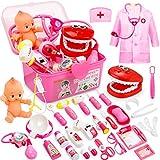 Fivejoy 43 Teile Arztkoffer Kinder, Doktorkoffer Kinder Rollenspiel Spielzeug Mit Rosa...