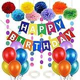 Kindergeburtstag Deko, Geburtstagsdeko Kinder, Geburtstags Deko Jungen Mädchen, Luftballon...