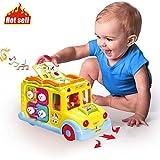 ACTRINIC Baby Spielzeuge Pädagogisches Intellektuelles Bus ,Verschiedenen Tiergeräuschen/Musik/omnidirektionalem Bewegung/bestes...