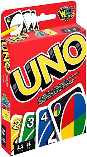 Mattel Games W2087 - UNO Kartenspiel und Gesellschaftspiel, geeignet für 2 - 10 Spieler, Kartenspiele und Gesellschaftsspiele ab...