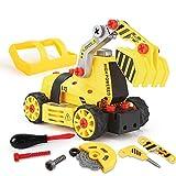 BeebeeRun 7 in 1 Montage Spielzeug Auto LKW,Kinder Spielzeug ab 3,Spielzeug 4 Jahre Junge,Lastwagen Autos,65 TLG,Kleinkind...