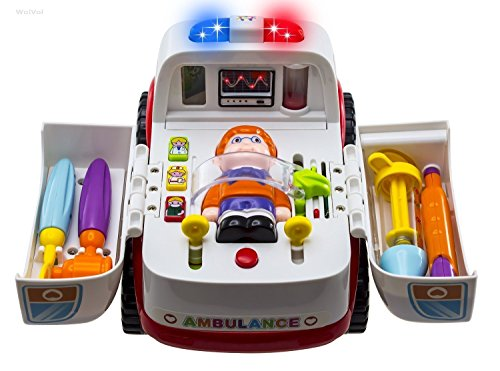 Wishtim Rettungswagen Krankenwagens mit medizinische Geräte, Licht und Musik
