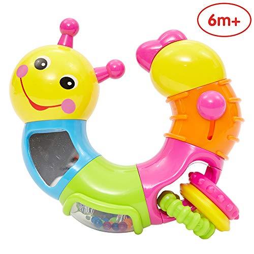 ANIKI TOYS Schöne Wurm Rassel Spielzeug mit rotierenden Twisting Spiel (Mehrfarbig)