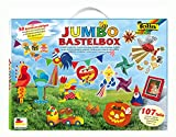 folia 50915/1 - Jumbo Bastelkoffer mit 107 Teilen, riesige Auswahl an Bastelmaterialien für...