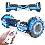 RCB Hoverboard 6,5 Zoll Elektro Skateboard für Kinder und Jugendliche Elektroroller mit Bluetooth - LED Licht Segway mit...