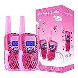 Kearui Spielzeug 3-12 Jahren für mädchen, Walkie Talkies für Kinder 8 Kanal Funkgerät mit Hintergrundbeleuchteter...