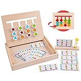 Rolimate Holzpuzzle Vorschule Lernspielzeug, Montessori Spielzeug Sortieren Puzzle, 4 Farbform-Matching-Spiel Brain Teaser...
