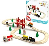 Tiny Land Züge und Holzeisenbahn Pack Eisenbahn Einsteigerset Passend für Thomas Eichhorn Zugset Kleinkinderspielzeug empfohlen...