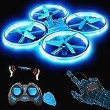 SNAPTAIN SP300 Drohne mit Blaue LED, RC Quadrocopter mit 3 Fernbedienungen, 2 Akkus für 14...