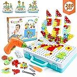 WEARXI Mosaik Steckspiel, Spielzeug ab 3 Jahre, Geschenk für Kinder - 3D Puzzle Kinder Bausteine Kinder Spielzeug ab 3,...