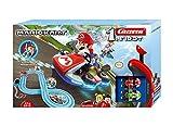 Carrera 20063028 FIRST Nintendo Mario Kart Rennstrecken-Set I 2,9m elektrische Rennbahn mit Streckenteilen und Handregler im...