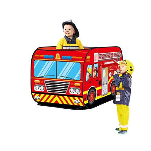 Haehne Kinder Spielzelte, Spielen Zelt Pop up Drinnen Draussen Spiel Haus Spielzeug Hütte Einfach Falten, Niedlich Feuerwehr Auto...