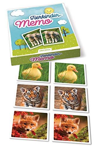Tierkinder-Memo: 40 Spielkarten im Spielkarton