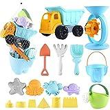 balnore Kinder Junge Mädchen Strandspielzeug, 20 Stück Sandspielzeug Set in wiederverwendbarer Netzbeutel mit Eimer Auto Tiere...