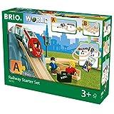 BRIO World 33773 Eisenbahn Starter Set A – Die ideale erste Holzeisenbahn mit Tunnel und...
