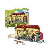 Schleich 42485 Farm World Spielset - Pferdestall, Spielzeug ab 3 Jahren