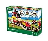 BRIO World 33719 Bahn Bauernhof Set – Holzeisenbahn mit Bauernhof, Tieren und Holzschienen...