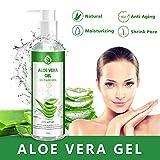 Aloe Vera Gel 100% Pur - für Gesicht, Haare und Körper - Natürliche, beruhigende und...