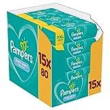 Pampers Fresh Clean Baby Feuchttücher, 1200 Tücher (15 x 80) Mit Frischem Duft,...