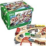 BRIO World 33052 Straßen & Schienen Bahn Set Deluxe – Straßen & Schienen für die BRIO...