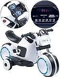 Playtastic Kinder Elektromotorrad: Futuristisches Elektro-Kindermotorrad mit LED-Licht und...