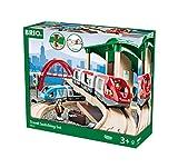 BRIO World 33512 Großes BRIO Bahn Reisezug Set – Eisenbahn mit Bahnhof, Schienen und Figuren...