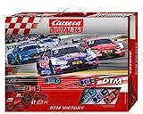 Carrera DIGITAL 143 DTM Victory Autorennbahn Set │ Premium-Rennbahn mit 3 ferngesteuerten Rennautos für bis zu 3 Spieler │...