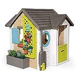 Smoby 810405 - Gartenhaus - Spielhaus für drinnen und draußen, mit kleiner Eingangstür und Fenstern, viel Zubehör zum...