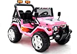 BSD Elektro Kinderauto Elektrisch Ride On Kinderfahrzeug Elektroauto Fernbedienung - Raptor 2-Sitzer - Rosa