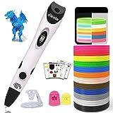 Dikale 3D Stift für Kinder mit PLA 18 Farben für Kritzelei, Basteln, Zeichnung, Kunstwerk,...