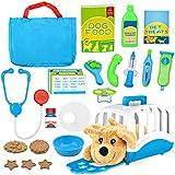 Vanplay Tierarzt Spielset Doktorkoffer Rollenspiel mit Spielzeug Hund Arztkoffer Transportbox Tierarztkoffer für Kinder Mädchen...
