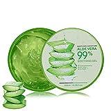 Aloe Vera Gel 300ml Natürliche beruhigende und pflegende Feuchtigkeitscreme Bio Creme 99% Pur, Ideal für Sonnenbrand Reparieren,...
